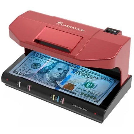 Carnation Counterfeit Bill Detector with UV and MG Counterfeit Detection CRD12+