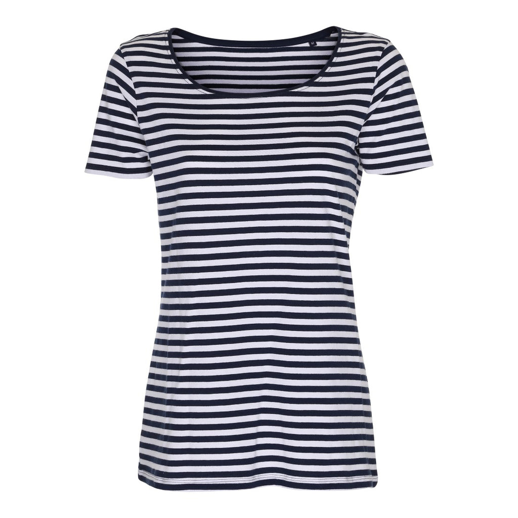Lady Striped Tee Label Free