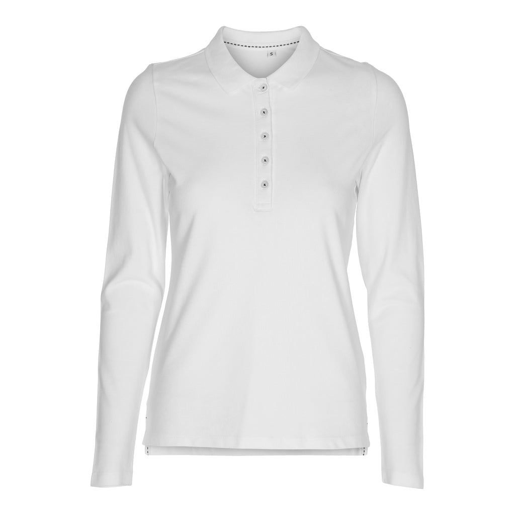 Lady Stretch Polo LS Label Free