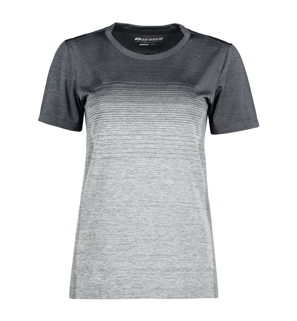 Woman seamless striped s/s T-shirt