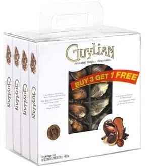 Guylian Seashells Belgian Chocolates The Original, 250 g (Pack of 3 + 1 Free)