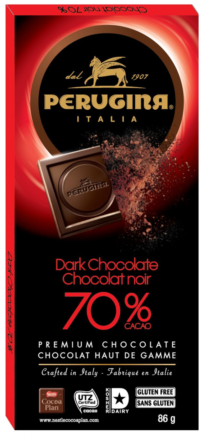 Perugina 70% Dark Chocolate Tablet 86g