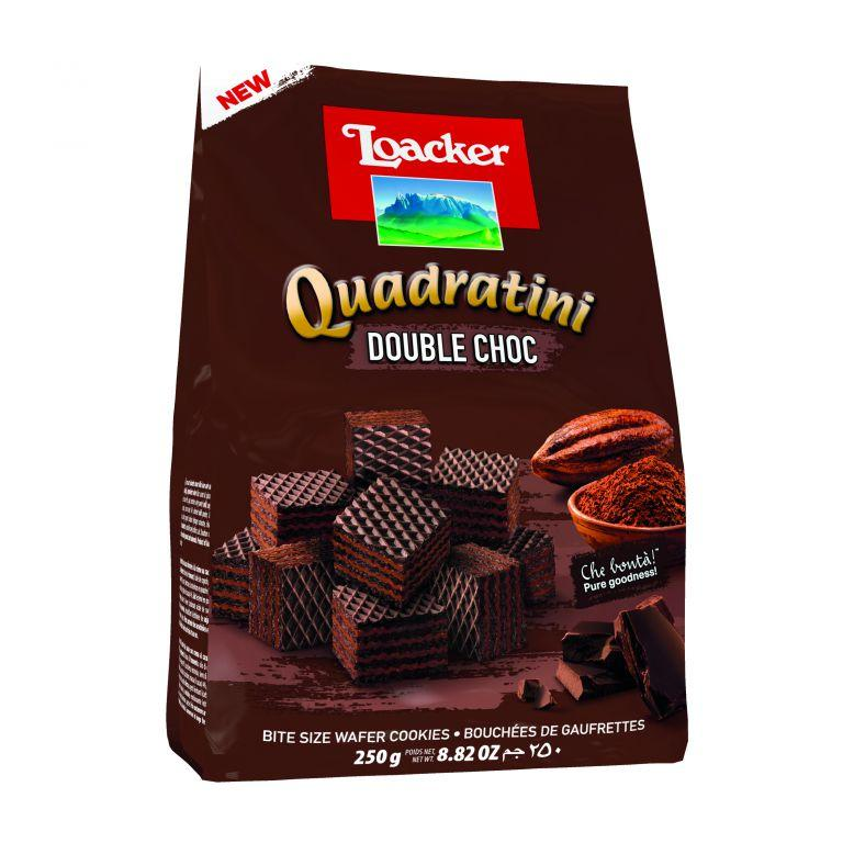 Loacker Quadritini Double Chocolate 250g 6pk