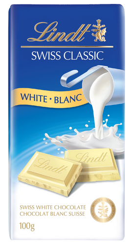 Lindt Swiss Classic White Bar 100g