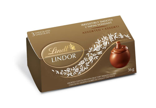 Lindt Lindor Assorted Truffles  3-Pack 36g