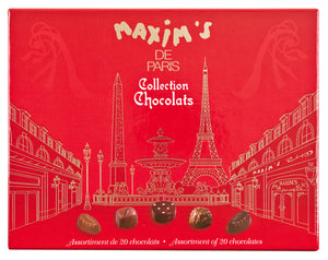Maxim's de Paris Assorted Chocolates (20 pc per box  of 200g)