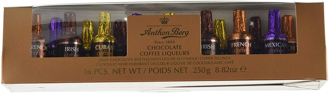 Anthon Berg Chocolate Coffee Liqueurs Gift Tube 16 pc 250g