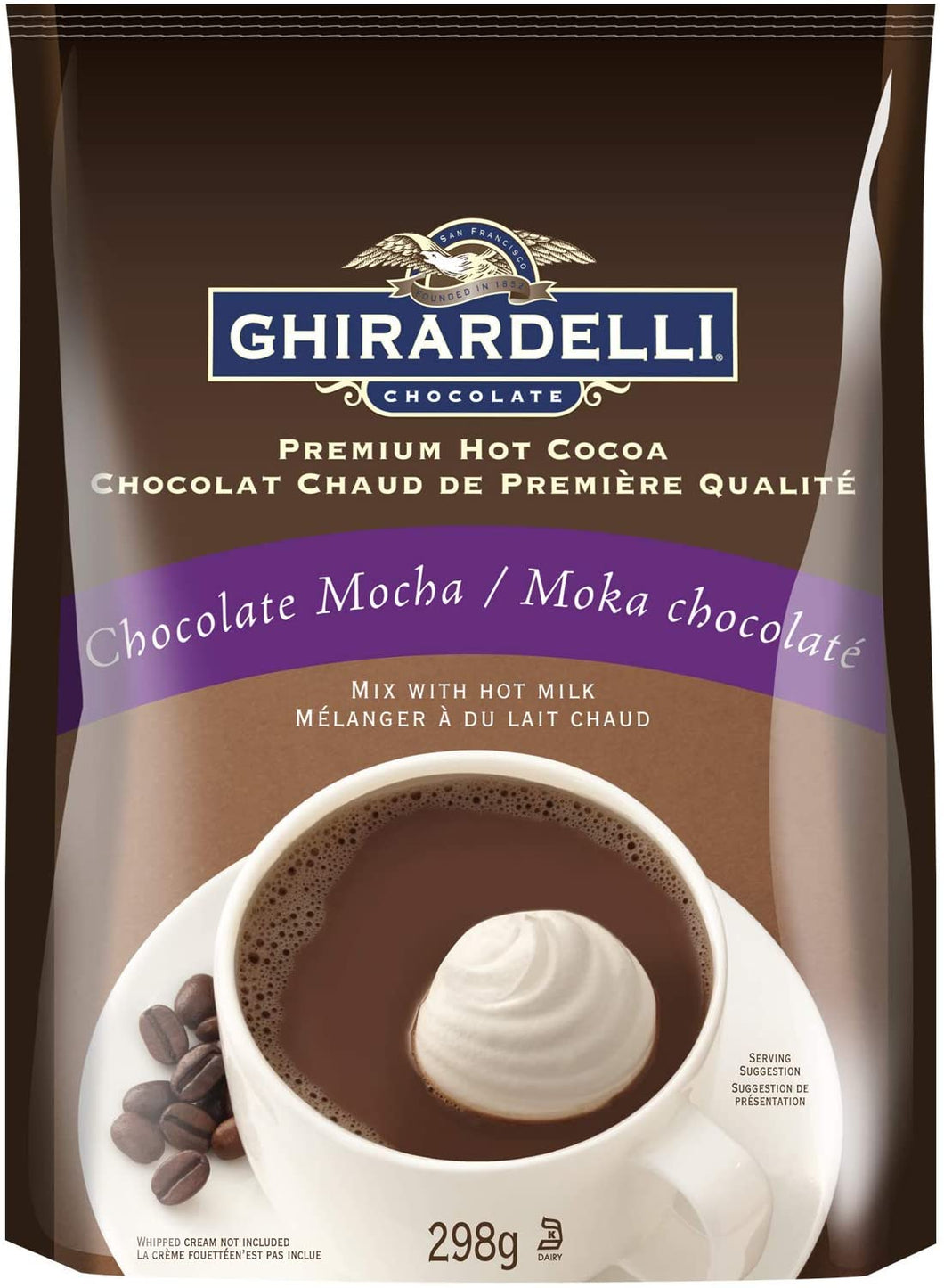 Ghirardelli Mocha Hot Chocolate Bag 298g