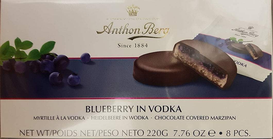 Anthon Berg Blueberry in Vodka 12pc 220g