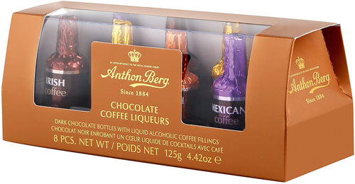 Anthon Berg Chocolate Coffee Liqueurs Gift Tube 8 pc 125g