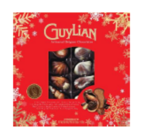 Guylian Seashells Window 250g w/Xmas Sleeve 6-pack