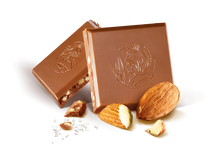 Load image into Gallery viewer, Leonidas Milk Chocolate Almond Tablet 100g