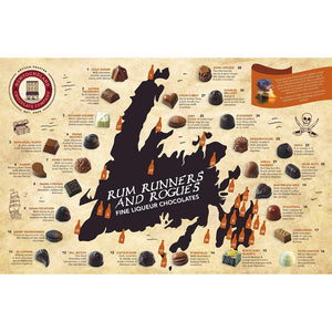 Newfoundland CC Rum Runners & Rogues Series Liquor Centre Chocolates (30 pc per box)