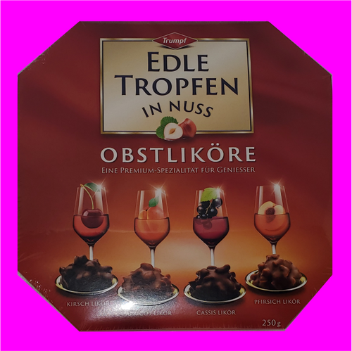 Trumpf Edle Tropfen in Nuss 250g (Noble drops in nut) -Fruit Liqueur
