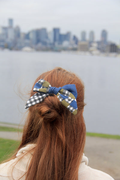 Quilted XL Hair Bow