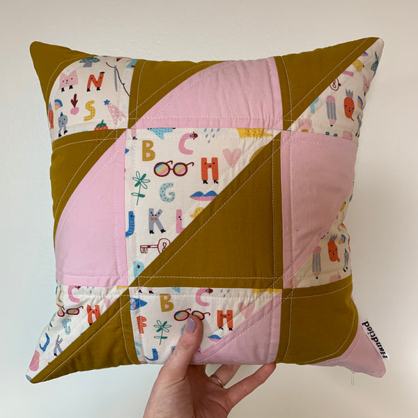Silly Alphabet Square Pillow
