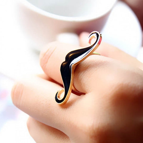 Black Moustache Ring