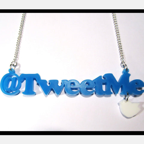 'Tweet Me' Acrylic Word Necklace