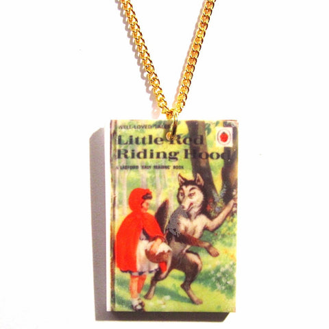 Little Red Riding Hood Ladybird Book Print Retro Necklace
