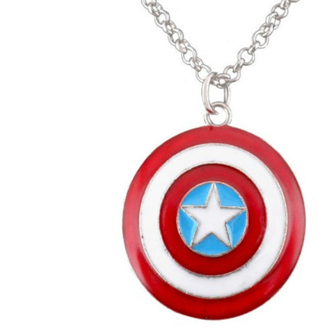 Captain America Shield Style Necklace