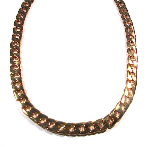 Statement Gold Tone Chunky Curb Chain Necklace