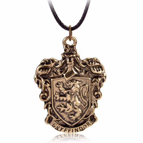 Harry Potter Theme Gryffindor House Crest Pendant Necklace