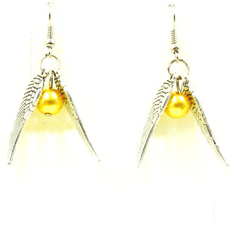 Harry Potter Inspired Golden Snitch Quidditch Earrings