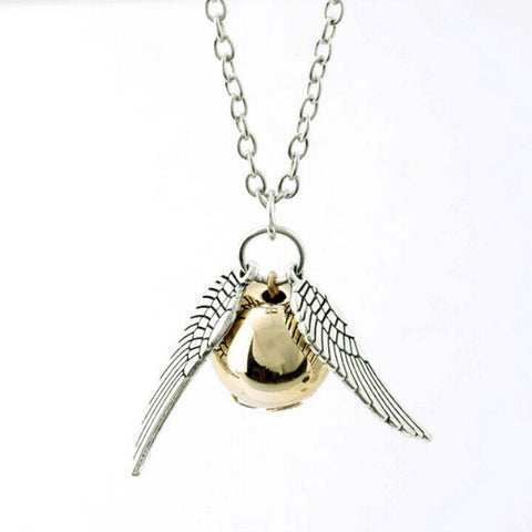 Harry Potter Style Golden Snitch Quidditch Necklace