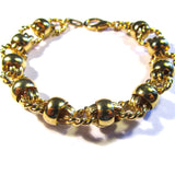 Bright Shiny Golden Fancy Links Bracelet