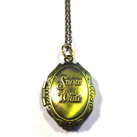 Snow White Antique Bronze Effect Locket Pendant