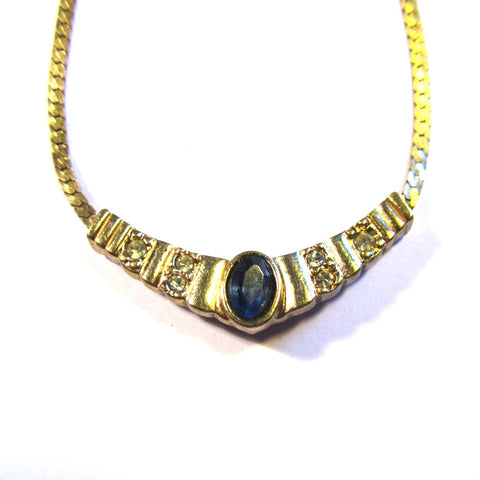 Vintage 'Avon' Gold Tone Gem Necklace