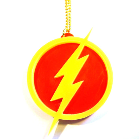 The Flash Symbol Superhero Pendant