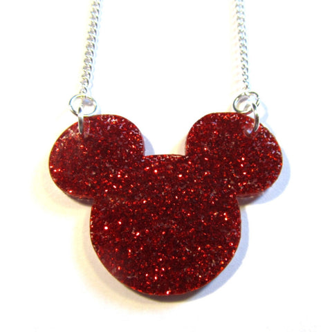 Mickey and Minnie Acrylic Silhouette Pendants
