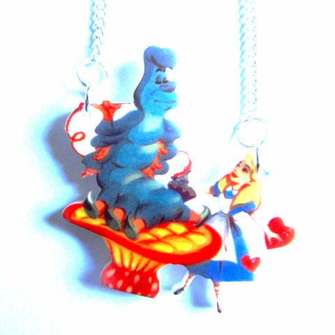 Alice in Wonderland Caterpillar Scene Colour Necklace
