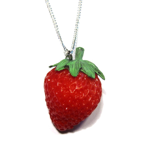 Kitsch 3D Strawberry Charm Pendant