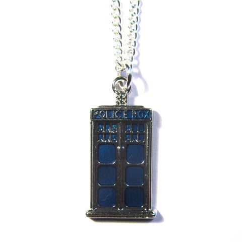 Doctor Who Style Police Box Charm Pendant