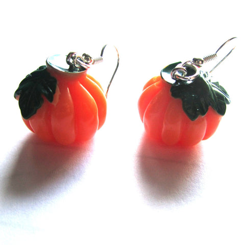 Resin 3D Pumpkin Earrings Halloween