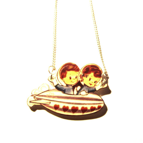 Retro Fab Space Kids Spaceship Pendant