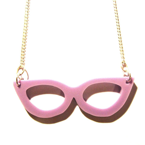 Lilac Retro Kitsch Cut-out Acrylic Glasses Pendant
