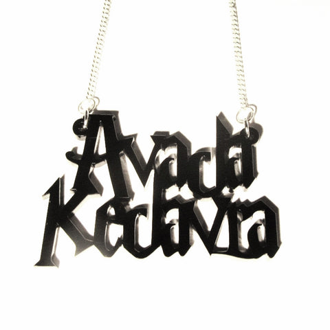 AVADA KEDAVRA Charm Word Pendant - Harry Potter