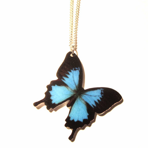 Blue Butterfly Acrylic Pendant