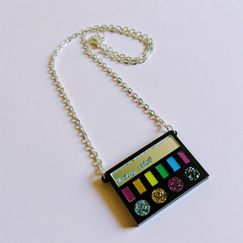 Gorgeous Glitter Makeup Addict Palette Acrylic Necklace