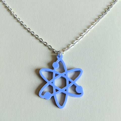 Atom Atomic Symbol Acrylic Laser Cut Pendant Necklace