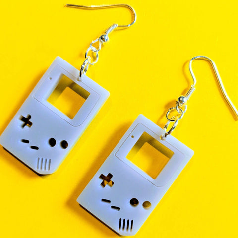 Retro Handheld Gameboy Console Style Acrylic Drop Earrings