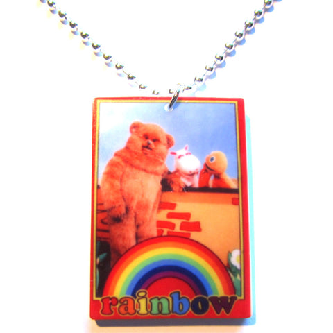 Classic Rainbow TV Inspired Acrylic pendant Necklace