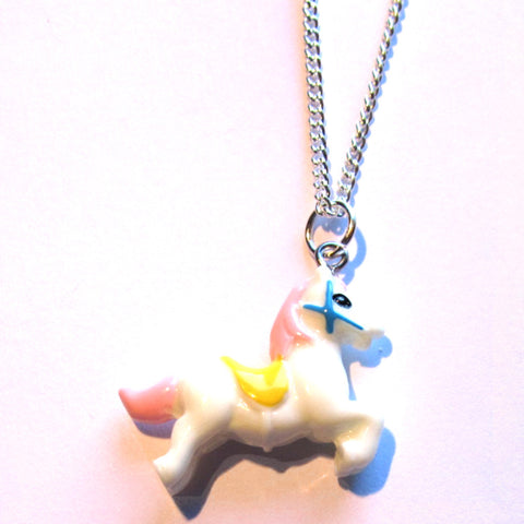 Fairground Candy Horse Pendant Necklace