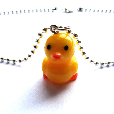 Yellow Duckie Cute Resin Pendant Necklace