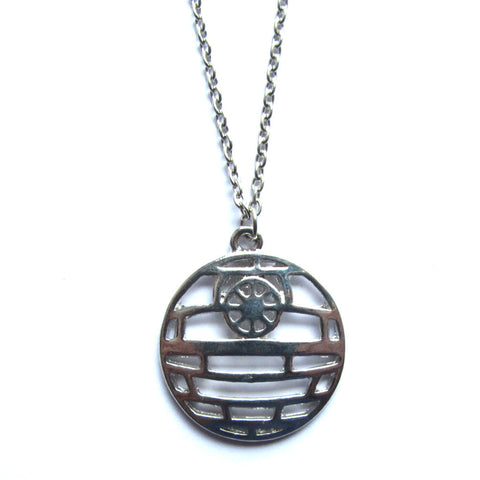 Star Wars Death Star Stylised Metal Pendant Necklace