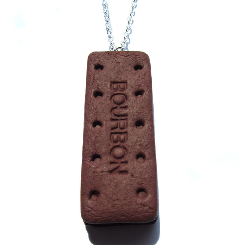 Bourbon Cream Faux Clay Biscuit Necklace