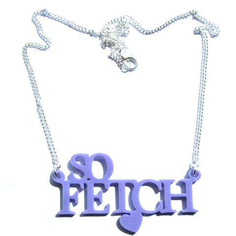 Mean Girls Movie 'So Fetch' Lilac Word Necklace